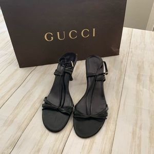 Gucci kitten heel sling back sandal
